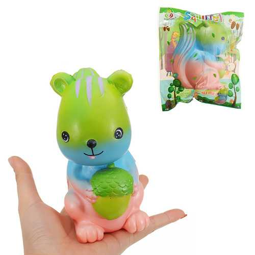 Sunny Squishy Cartoon Squirrel Cute Animal Toy 14.5CM Slow Rising With Packaging Soft Gift