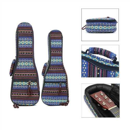 21 23 Inch Ukulele Case Soft Padded Carry Protect Backpack Cover Gig Bag