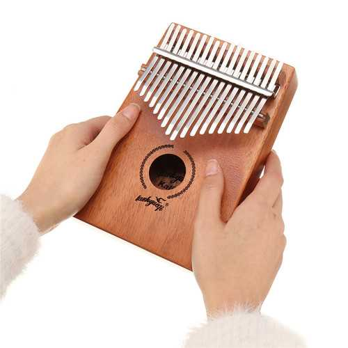 17 Keys Kalimba African Solid Mahogany Wood Thumb Piano Finger Percussion Musical Gifts