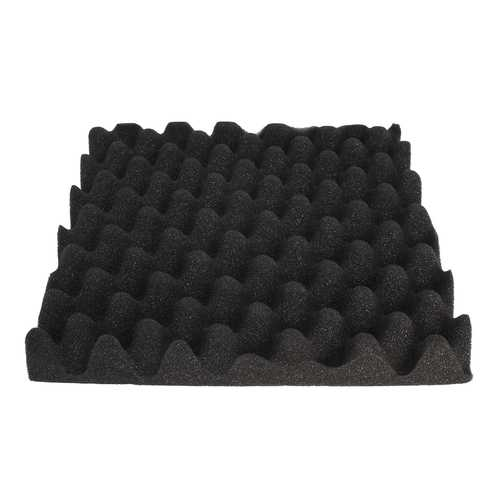 Black Eggs Soundproofing Foam Absorbers Sound Sponge Acoustic Studio Tiles