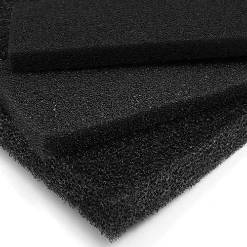 5Pcs 50x12x2cm Black Aquarium Biochemical Cotton Filter Foam Fish Tank Sponge Pads