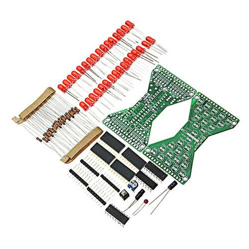 10Pcs DIY Electronic Hourglass Kit Soldering Practice Spare Parts DC3.3-5V Speed Adjustable