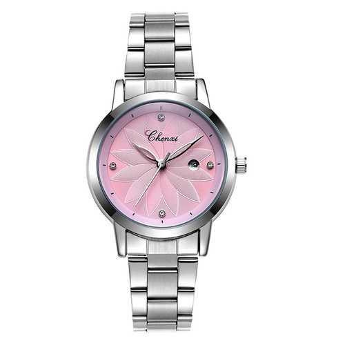 CHENXI 303L Luxury Flower Dial Case Ladies Quartz Watches