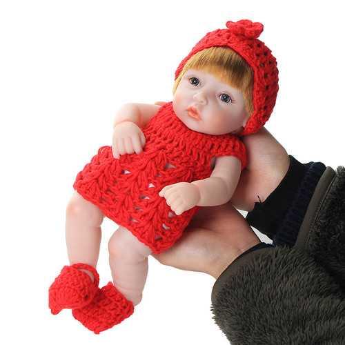 25CM Handmade Real Looking Newborn Baby Vinyl Silicone Realistic Reborn Doll Girl Toys