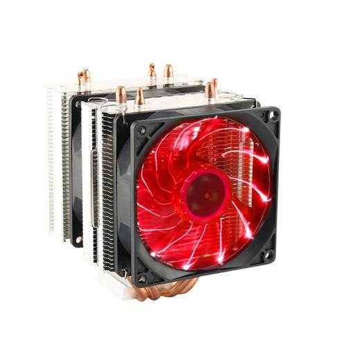 3 Pin 90mm LED Light CPU Cooling Fan Cooler Radiator for Intel LGA2011 LGA1155 AMD3+ AMD2