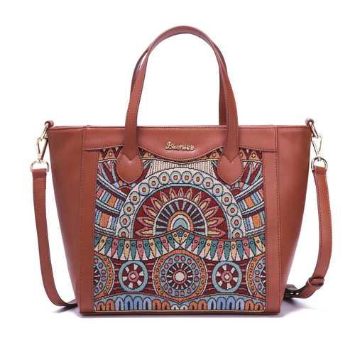 Brenice Embroidery Tote Handbags Flowers Handbags