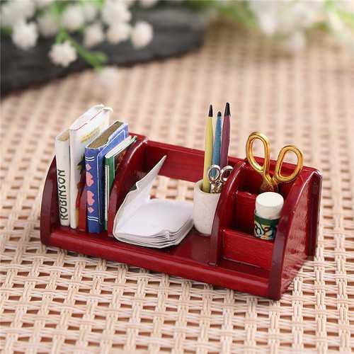 1:12 Dollhouse Toys Miniature Furniture Book Shelf Organizer Rack