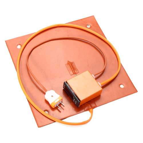 220V/110V Optional 3.4/6.8A 750W Silicone Heated Bed Heating Pad + LCD Thermostat For 3D Printer