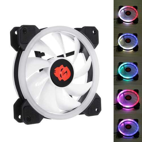 Coolmoon 1PCS 120mm Adjustable RGB LED Light Computer PC Case Cooling Fan