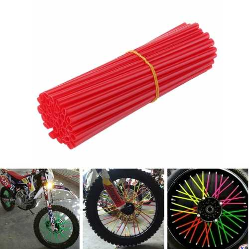 38pcs 15cm Multicolor Spoke Covers Motorcycle Wheels Rim Shrouds Wrap Protector