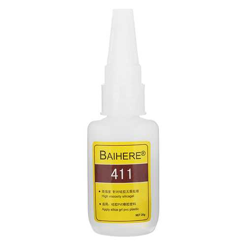 BAIHERE 20g Quick Drying Instant Adhesive Strong Bonding Glue for Silicone Rubber Plastic PVC