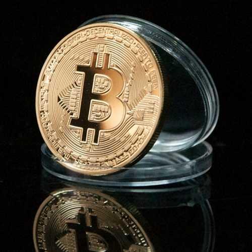 1Pcs Gold Bitcoin Model Commemorative Coins BTC Metal Coin Decorations