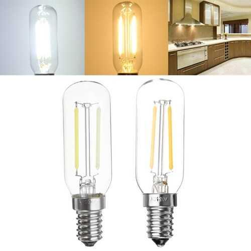 E14 2W 120LM COB T25 Warm White Pure White LED Light Bulb AC220V AC110V