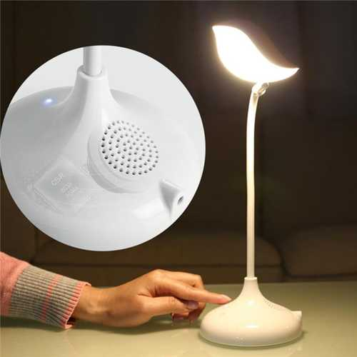 Intelligent Desk Lamp bluetooth Speaker With Mic Hands-free Call Eye Protection Bird Shape