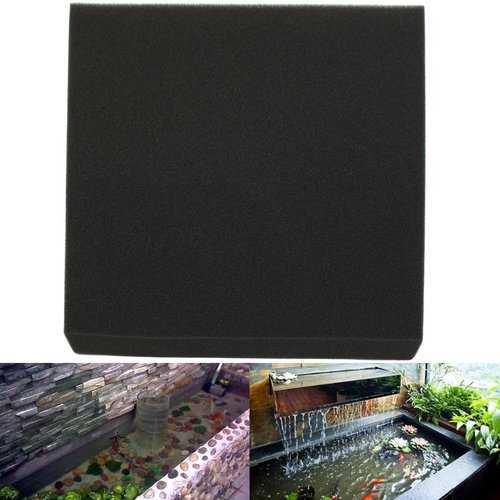 50x50x4cm Black Aquarium Biochemical Cotton Filter Foam Fish Tank Sponge Pads