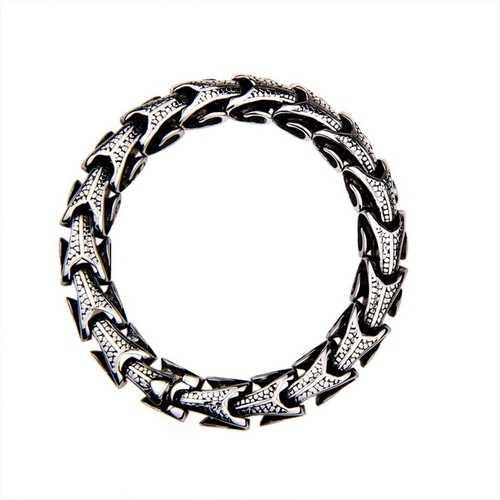 10mm Vintage Titanium Steel Dragon Chain Bracelet for Men