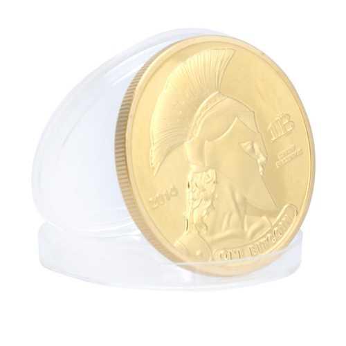 1Pcs Bitcoin Model Gold Plated Titan Commemorative Coin BTC Bitcoin Metal Coin Decorations