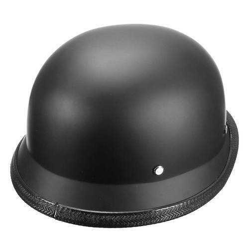 ABS Plastic Motorcycle Helmet Motorcross Capacete Half Helm Retro Matte Black
