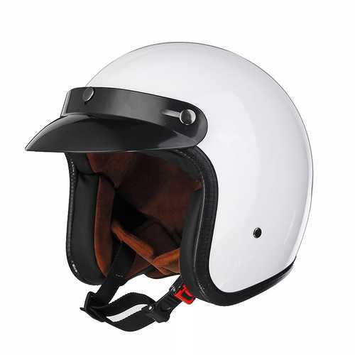 Black/White ABS Motorcycle Vintage Helmet Open Face