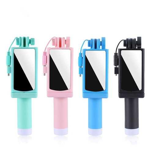 Bakeey Mini Selfie Stick With Mirror For iPhone 6S Plus Xiaomi Redmi 5Plus Note 5
