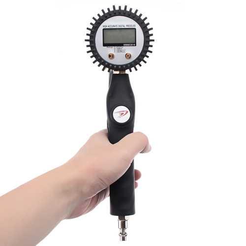 Digital Tire Pressure Gauge Tire Inflator Tool Car Motorcycle PSI BAR Kg/cm² Kpa