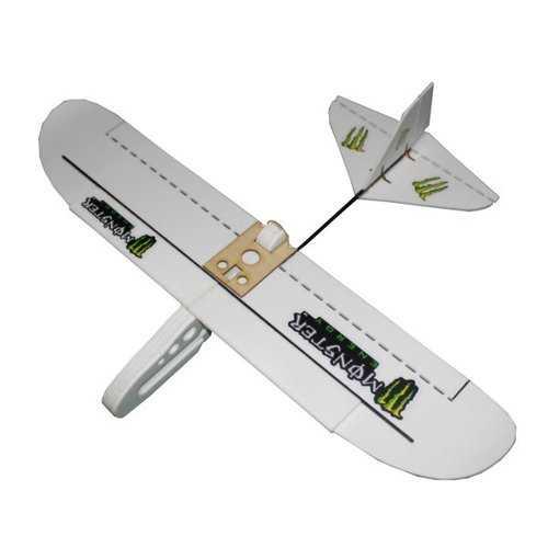 Monster 800mm Wingspan PP Material Laser Cut DIY RC Airplane Flying Wing KIT