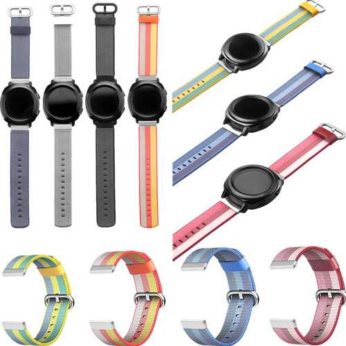 Universal 20mm Nylon Watch Band Replacement Strap For Samsung Gear 2 Classic Aamazfit Garmin
