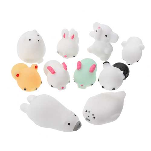 10 PCS/Lot Mochi Squishy Super Soft Squeeze HealingToy Pressure Relief Kids Toys Gift Collection