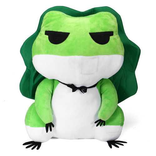 15 Inches Stuffed Plush Toy Travel Frog Cute Animal Doll Toy Keychain Dango Accessory