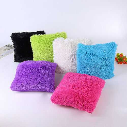 45 x 45cm Soft Plush Square Pillow Case Sofa Waist Throw Cushion Cover Home Decoration