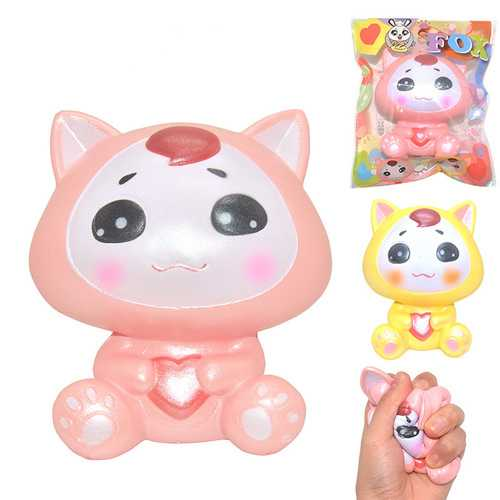 Areedy Squishy Fox Licensed 10*9.5*5.5cm Licensed Slow Rising With Packaging Collection Gift Soft Toy