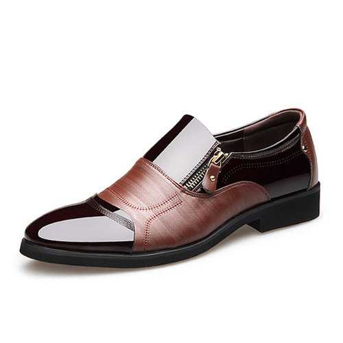 Men Comfy Pointed Toe Leather Business Formal Shoes