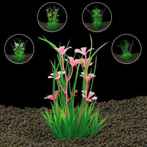 Artificial Plastic aquarium plants Grass for aquarium background FishTank Ornament  Decorations