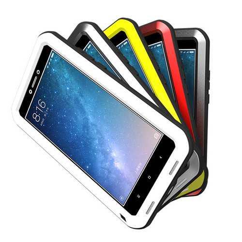 LOVE MEI Waterproof Shockproof 3 Proofings Full Body Aluminum Protective Case For Xiaomi Mi MAX2