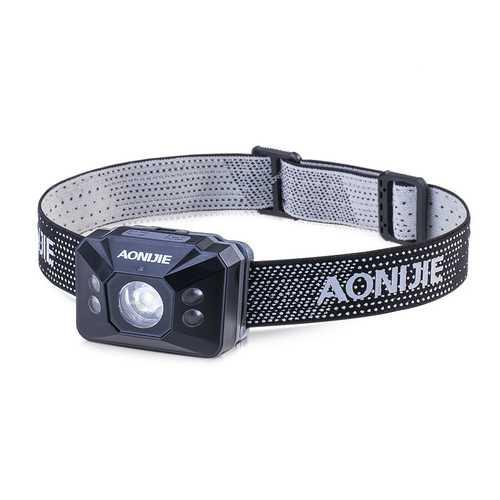 AONIJIE Outdoor Portable LED Headlights High Light Waterproof Headlamp Battery Safety Warning Light
