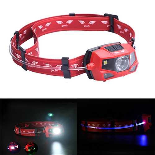 Goofy DT-7605 180 Lumens Outdoor Cycling  LED Headlamp 360 Degree Light Beam IPX4 Warning Light