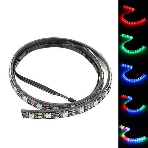 Coolmoon 40cm Magnetic RGB LED Strip Light with 30pcs LED for Desktop PC Computer Case