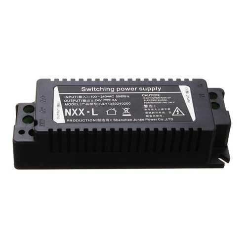 AC100-240V to DC24V 2A 48W Lighting Transformer LED Driver for Indoor Use