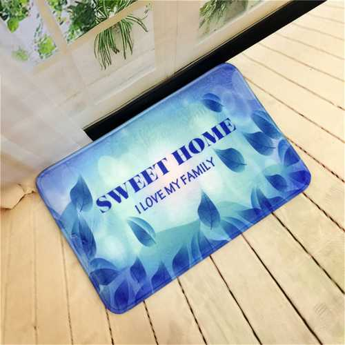 40x60cm Flannel Doormat Absorbent Bath Mat Bathroom Carpet Kitchen Mats and Rugs for Home Decoration