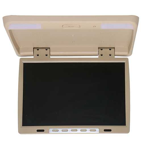 15.4 Inch Car DVD Player HDMI TFT LCD DVD Roof Mount In Car Flip Down Overhead Monitor