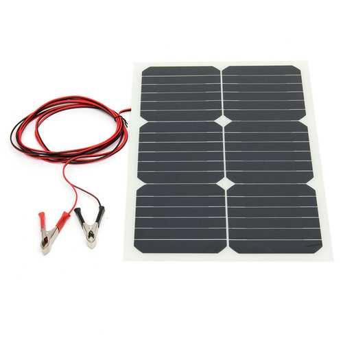 12V 20W 42x28x0.25cm Semi Flexible Sunpower Chip Solar Panel With 3m Rear Wiring