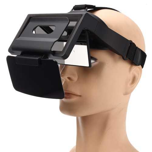 UPARTNER 3D AR VR Glasses Adjustable Helmet For 4.5-5.5 Inch Phone