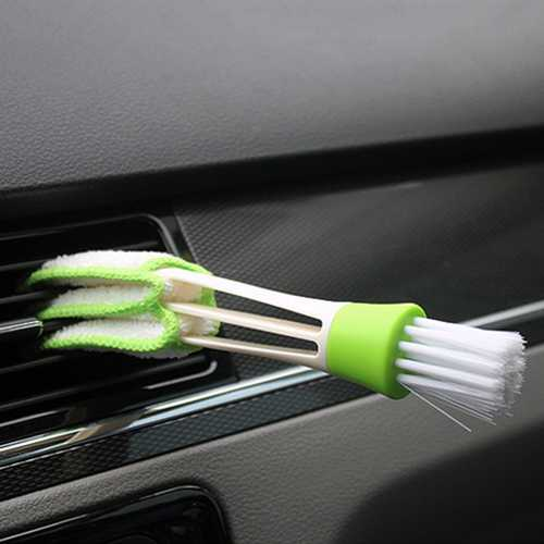 Multi-functional Car Air Conditioning Vent Shutters Cleaning Brushes Dashboard Crevice Sponge