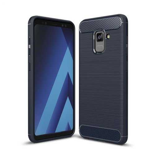 Bakeey Carbon Fiber Texture Anti Fingerprint Soft TPU Protective Case For Samsung Galaxy A8 2018