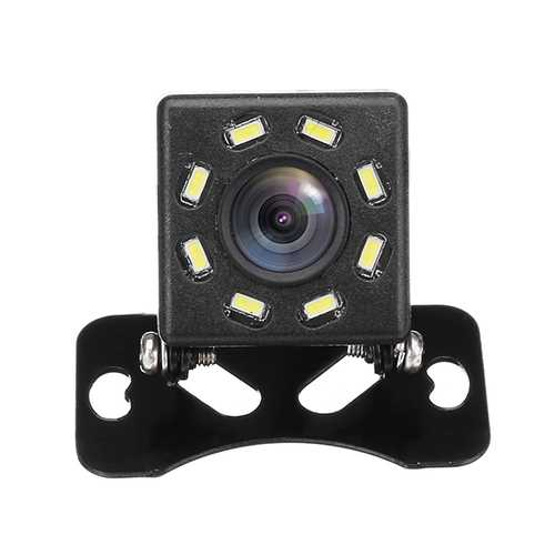8 LED Night Vision 170 Degree Car Rear View Waterproof Reverse Backup Parking Camera