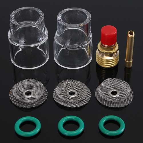 10Pcs 3/32inch 2.4mm TIG Welding Torch Glass Cup Kit For WP-9/ 20