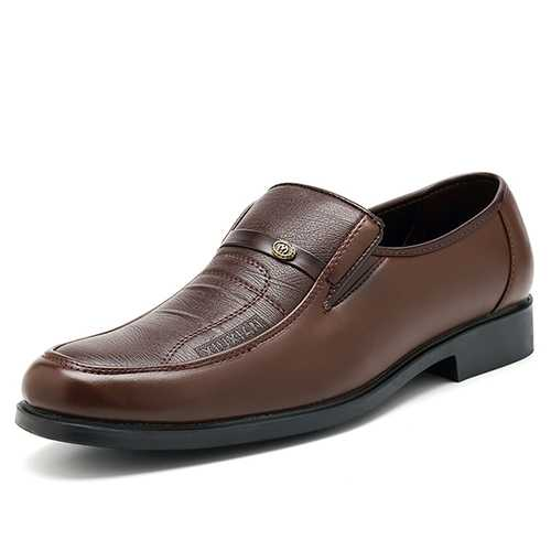 Men Casual Soft Leather Business Shoes Formal Shoes