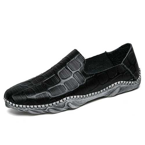 Comfy Wear Resistance Outsole Flat Loafers Driving Shoes