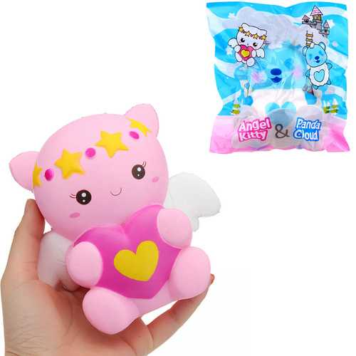 Creamiicandy Yummiibear Angel Kitty Panda Cloud Licensed Squishy 14cm With Packaging Collection Gift Soft Toy