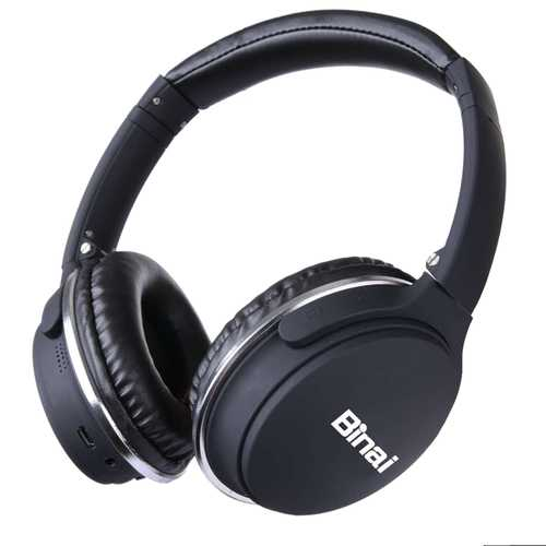 Binai New-35t Hifi Wireless Bluetooth Headphone Noise Cancelling Stereo Headset for iPhone 8 Xiaomi